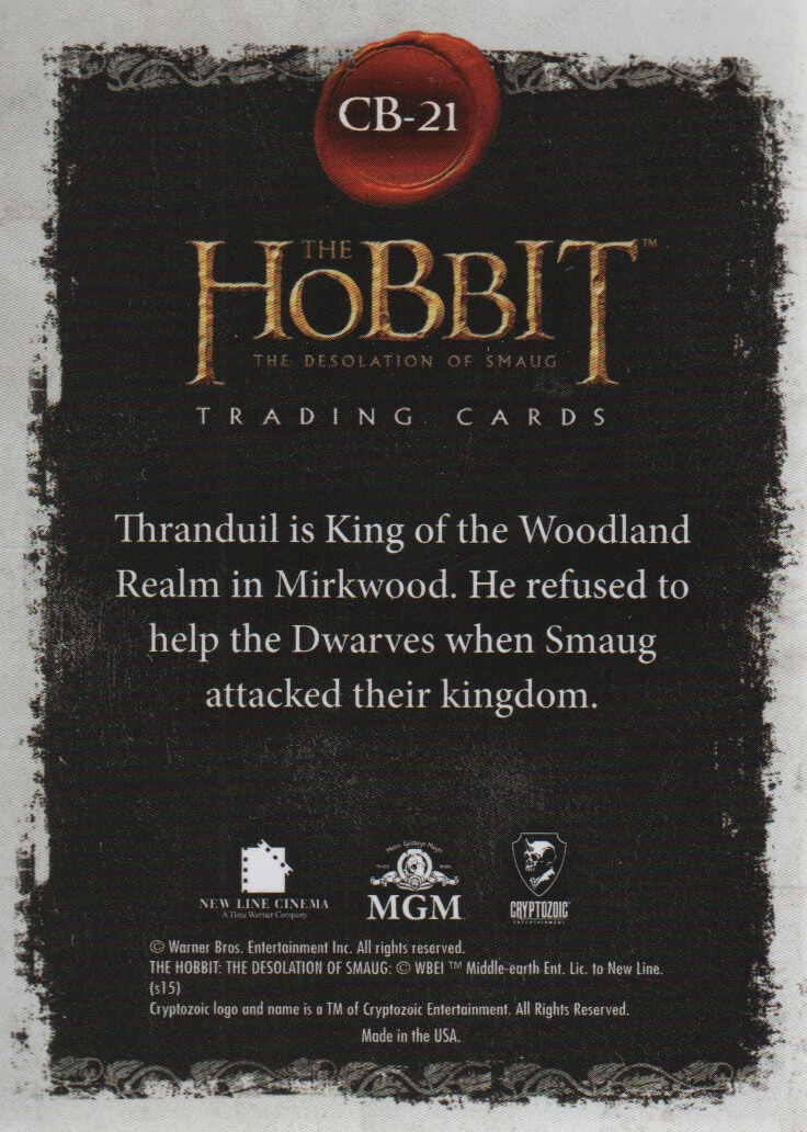 2015-The-Hobbit-Desolation-of-Smaug-Character-Biographies-Cards-Pick-From-List miniature 5
