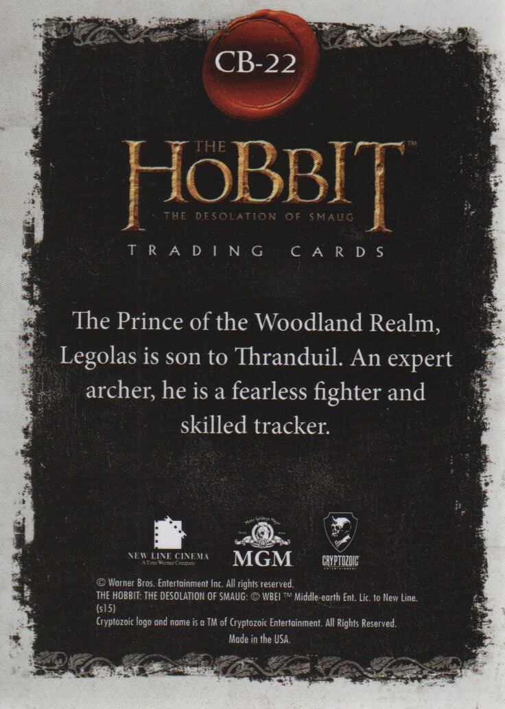 2015-The-Hobbit-Desolation-of-Smaug-Character-Biographies-Cards-Pick-From-List miniature 7