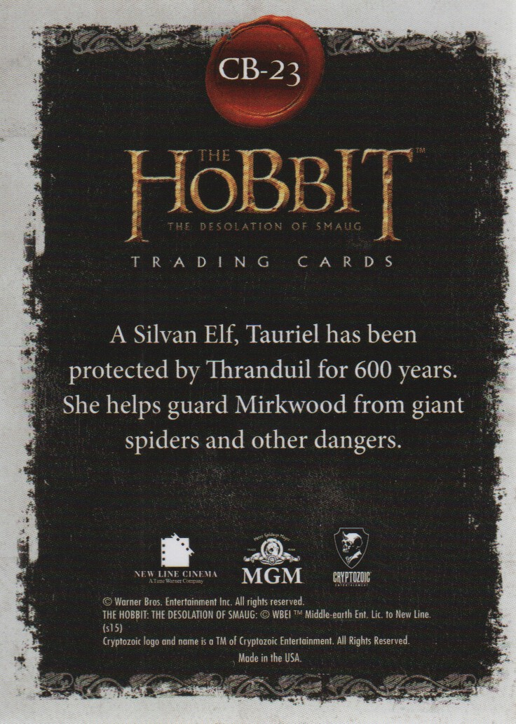 2015-The-Hobbit-Desolation-of-Smaug-Character-Biographies-Cards-Pick-From-List miniature 9