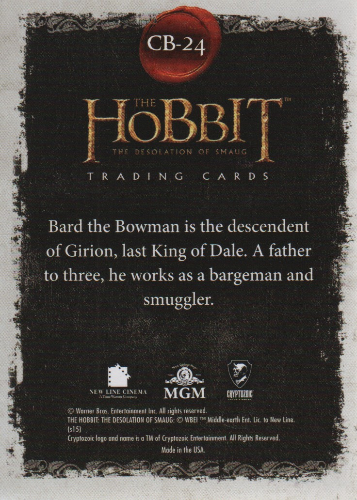 2015-The-Hobbit-Desolation-of-Smaug-Character-Biographies-Cards-Pick-From-List miniature 11