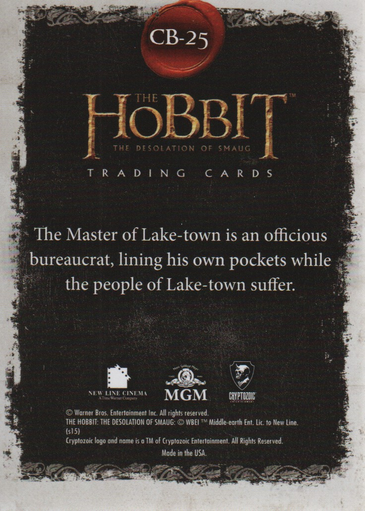 2015-The-Hobbit-Desolation-of-Smaug-Character-Biographies-Cards-Pick-From-List miniature 13