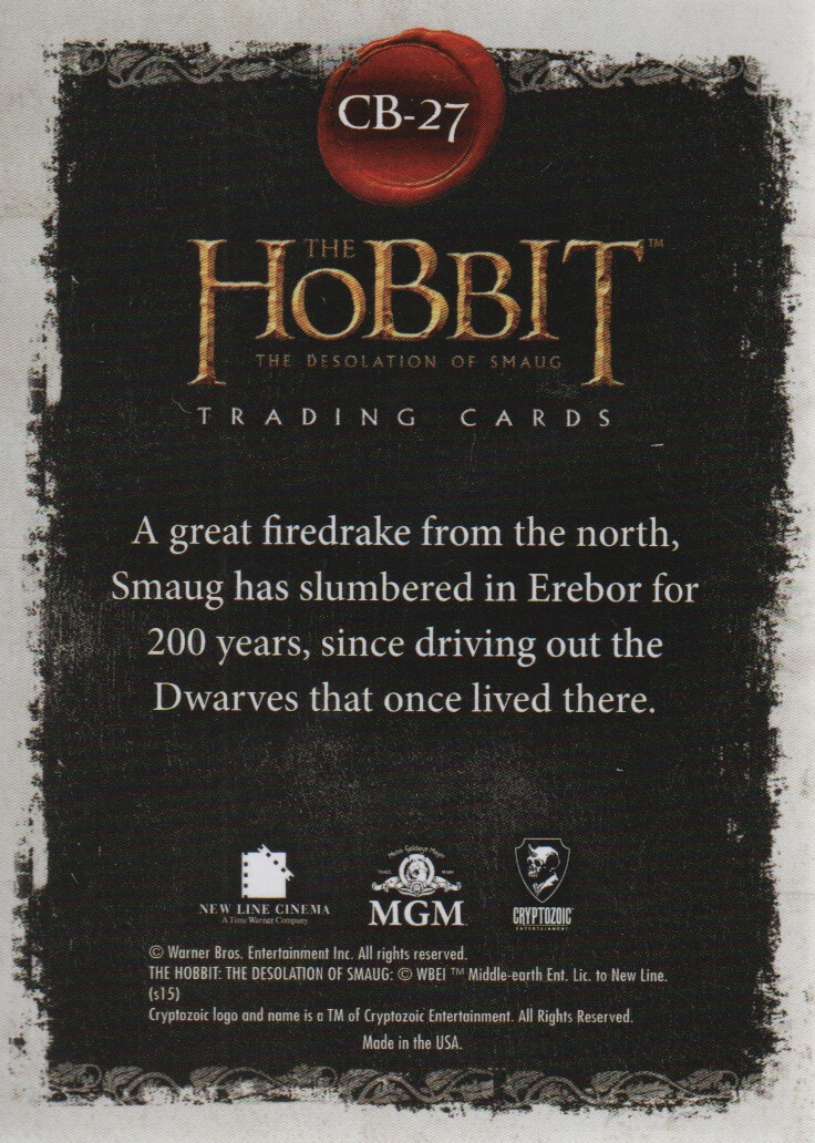2015-The-Hobbit-Desolation-of-Smaug-Character-Biographies-Cards-Pick-From-List miniature 17