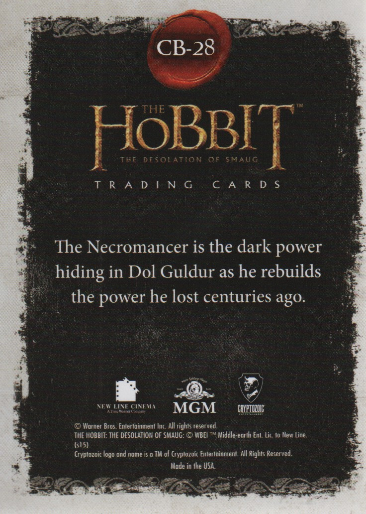 2015-The-Hobbit-Desolation-of-Smaug-Character-Biographies-Cards-Pick-From-List miniature 19