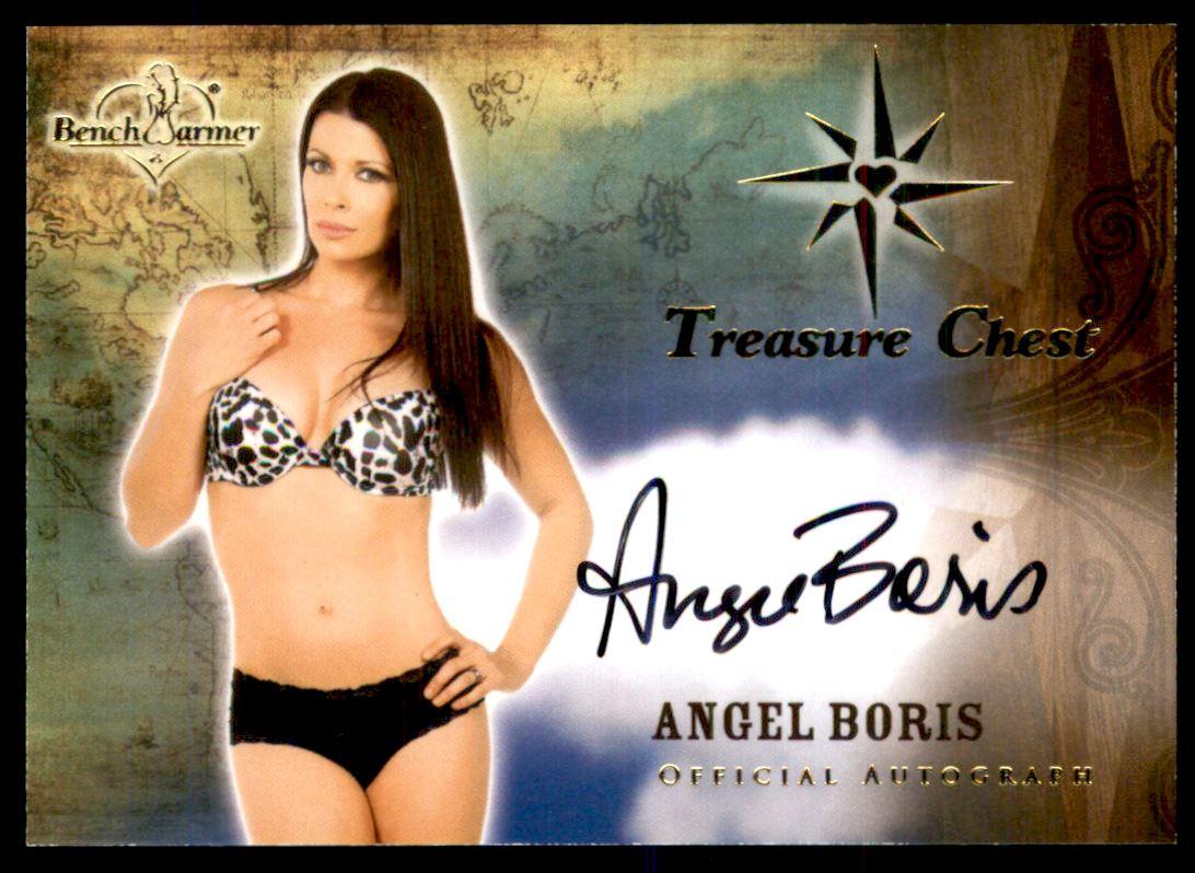 Angel Boris 2015 bench warmer treasure chest autographs #8 angel boris