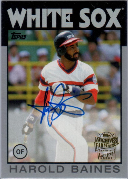2015 Topps Archives Fan Favorites Autographs Silver #FFAHB Harold Baines