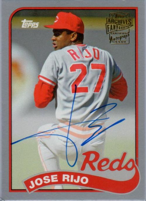2015 Topps Archives Fan Favorites Autographs Silver #FFAJR Jose Rijo