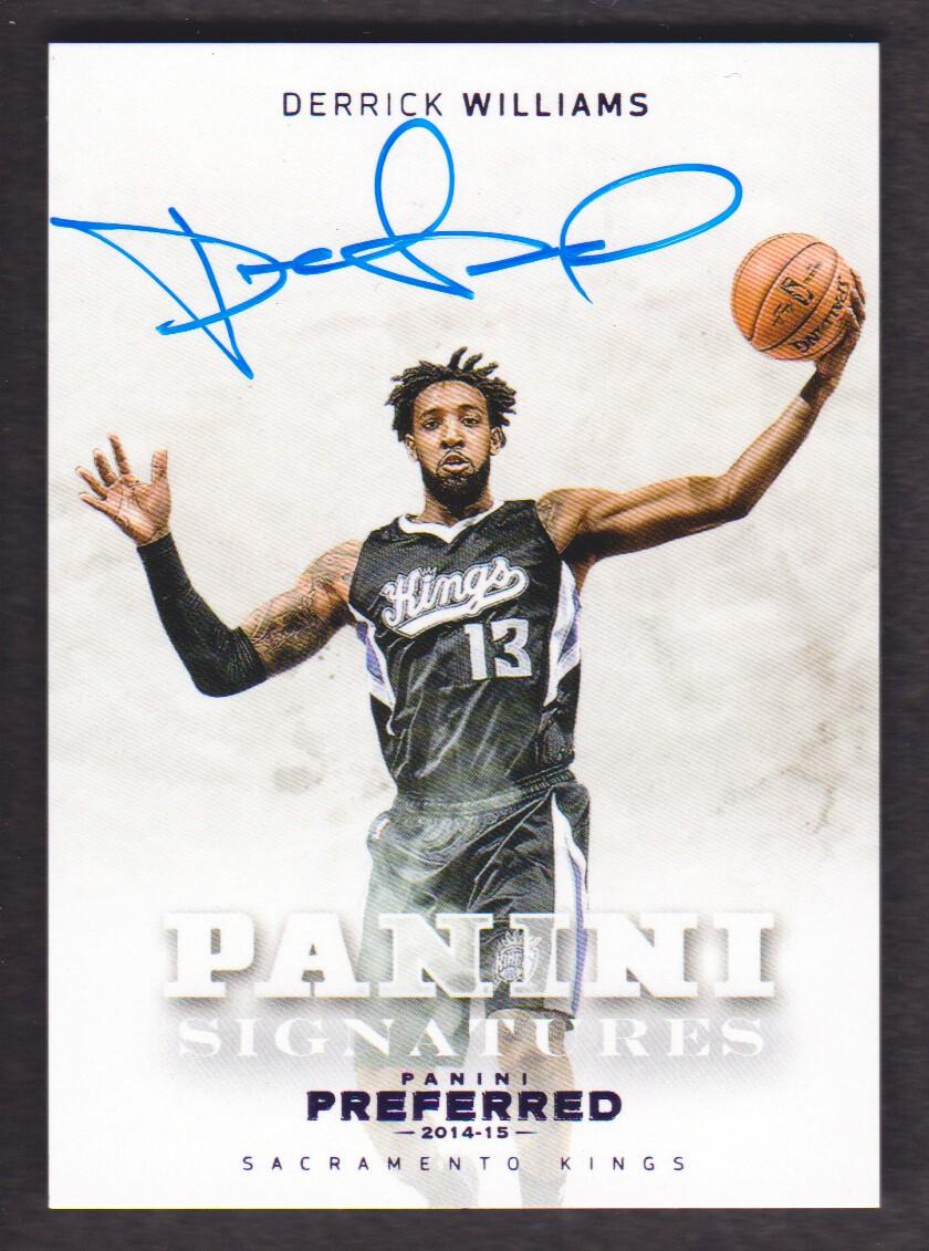 2014-15 Panini Preferred Purple #423 Derrick Williams PS AU