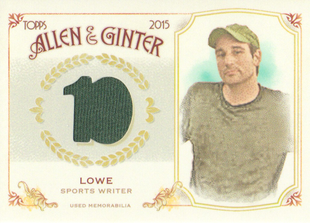 2015 Topps Allen and Ginter Relics #FSRBZL Zach Lowe B