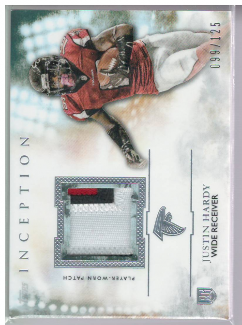 2015 Topps Inception Rookie Relics Patch #RPJHA Justin Hardy