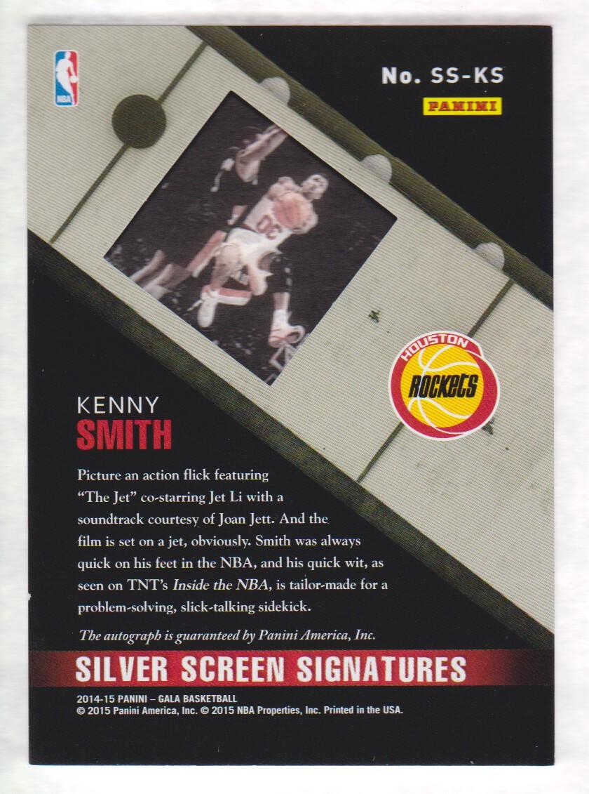 2014-15 Panini Gala Silver Screen Signatures #11 Kenny Smith/60 back image