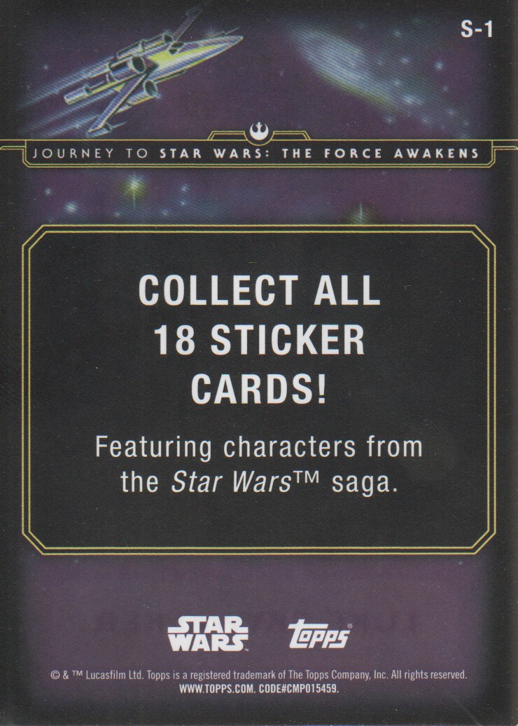 2015-Star-Wars-Journey-to-The-Force-Awakens-Inserts-Cards-Pick-From-List miniature 21