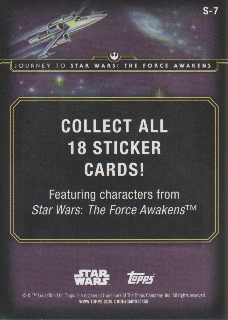 2015-Star-Wars-Journey-to-The-Force-Awakens-Inserts-Cards-Pick-From-List miniature 31