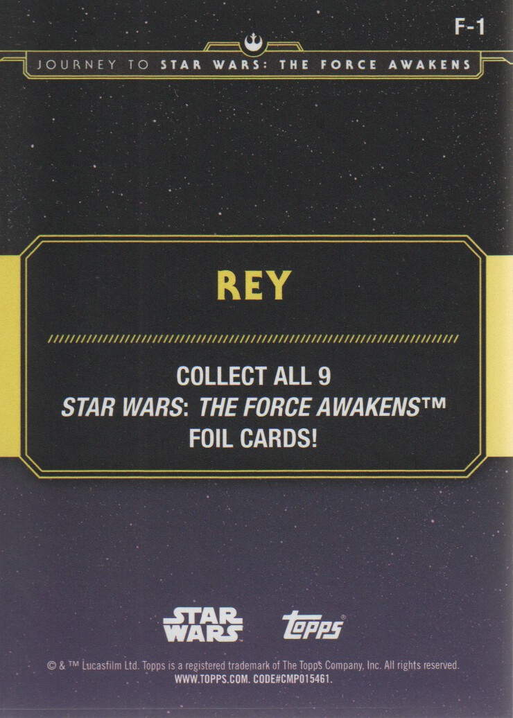2015-Star-Wars-Journey-to-The-Force-Awakens-Inserts-Cards-Pick-From-List miniature 107