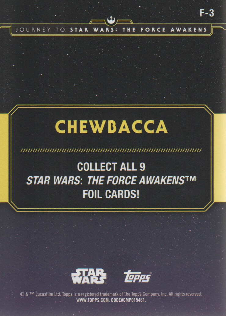2015-Star-Wars-Journey-to-The-Force-Awakens-Inserts-Cards-Pick-From-List miniature 111