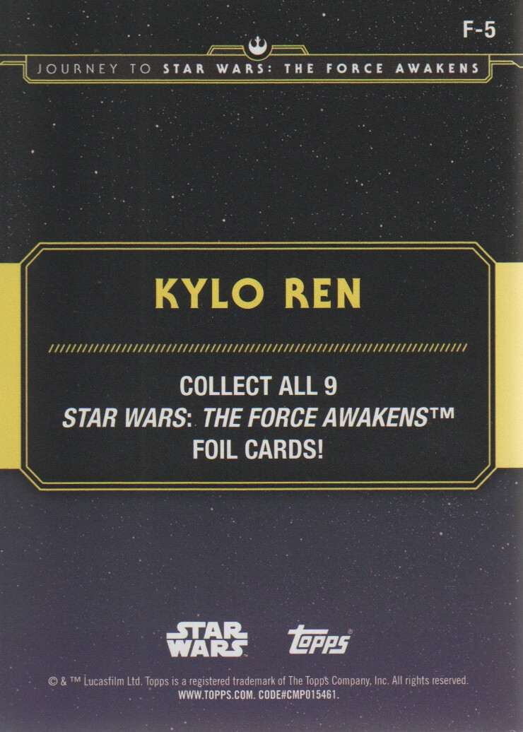 2015-Star-Wars-Journey-to-The-Force-Awakens-Inserts-Cards-Pick-From-List miniature 115