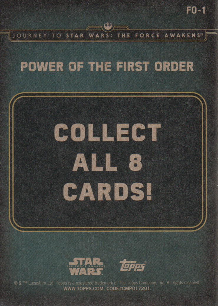 2015-Star-Wars-Journey-to-The-Force-Awakens-Inserts-Cards-Pick-From-List miniature 91