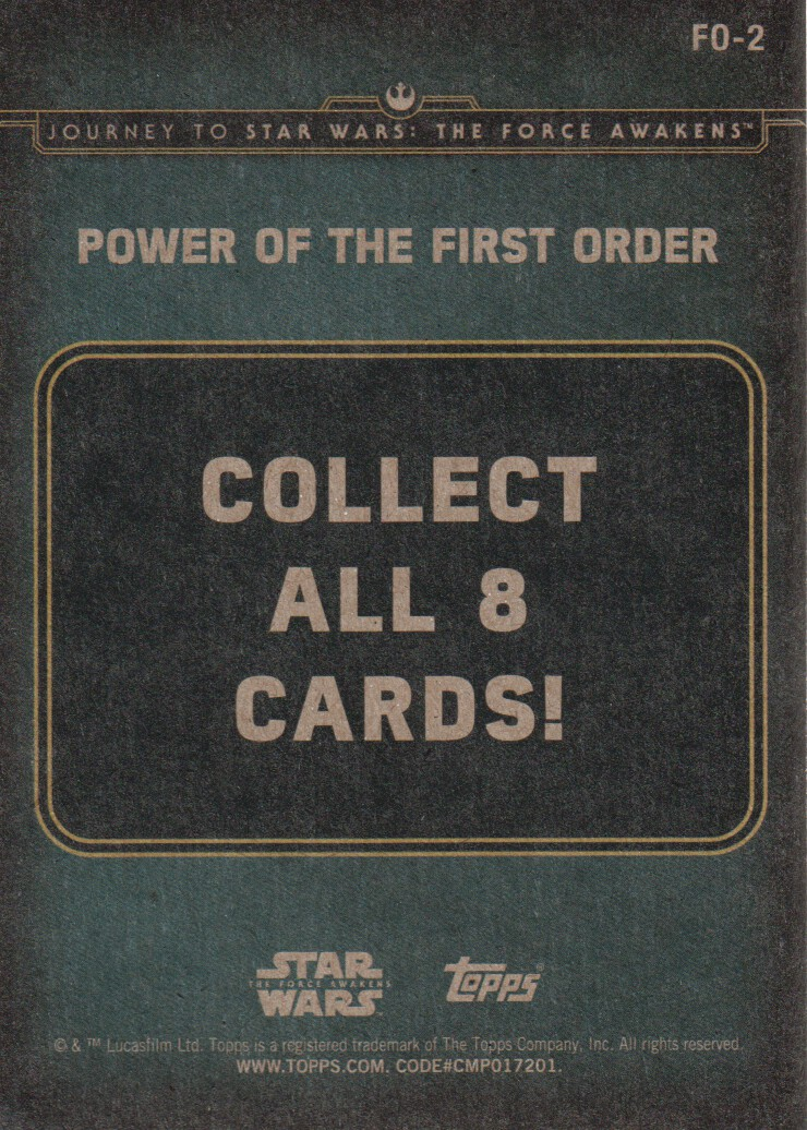 2015-Star-Wars-Journey-to-The-Force-Awakens-Inserts-Cards-Pick-From-List miniature 93