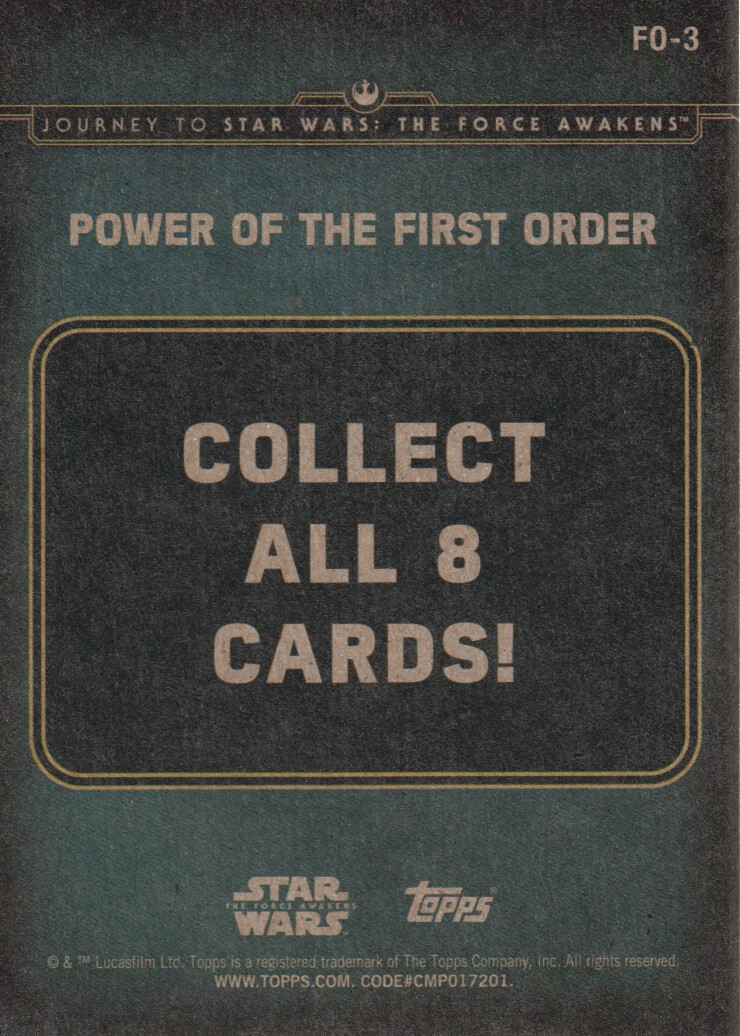 2015-Star-Wars-Journey-to-The-Force-Awakens-Inserts-Cards-Pick-From-List miniature 95