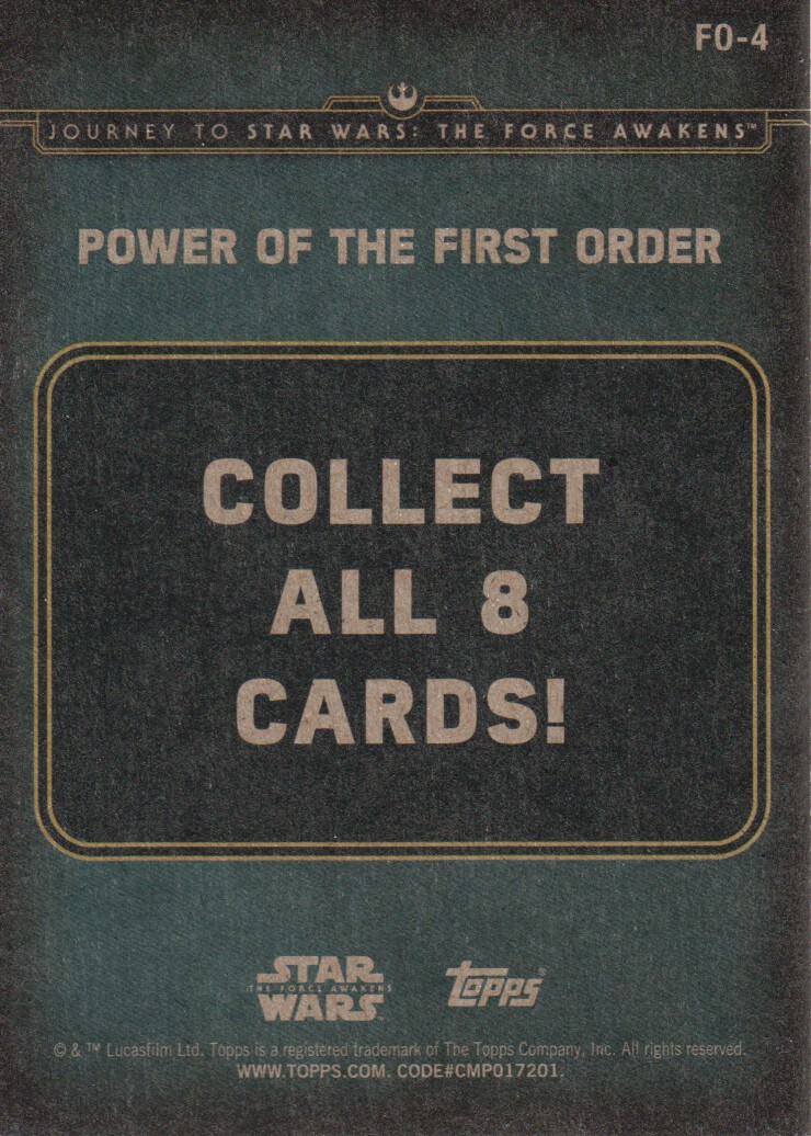 2015-Star-Wars-Journey-to-The-Force-Awakens-Inserts-Cards-Pick-From-List miniature 97