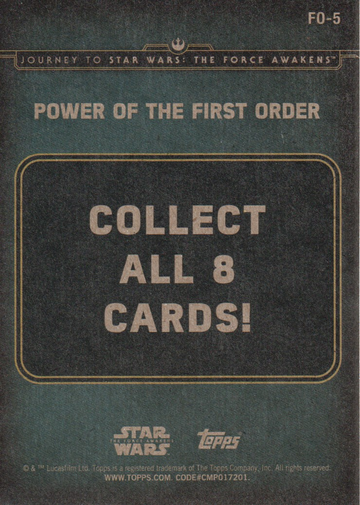 2015-Star-Wars-Journey-to-The-Force-Awakens-Inserts-Cards-Pick-From-List miniature 99