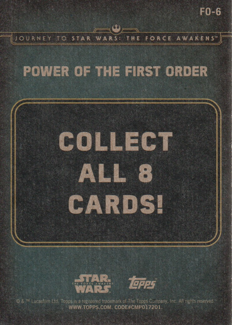 2015-Star-Wars-Journey-to-The-Force-Awakens-Inserts-Cards-Pick-From-List miniature 101