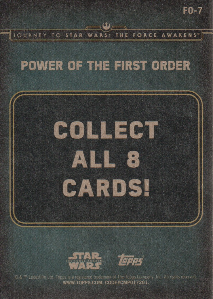 2015-Star-Wars-Journey-to-The-Force-Awakens-Inserts-Cards-Pick-From-List miniature 103