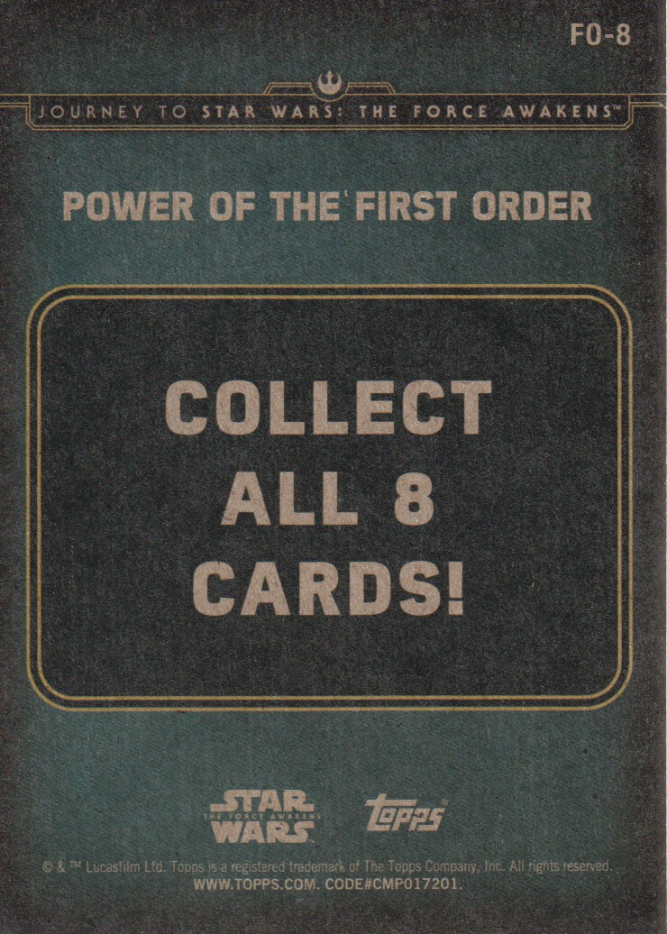 2015-Star-Wars-Journey-to-The-Force-Awakens-Inserts-Cards-Pick-From-List miniature 105