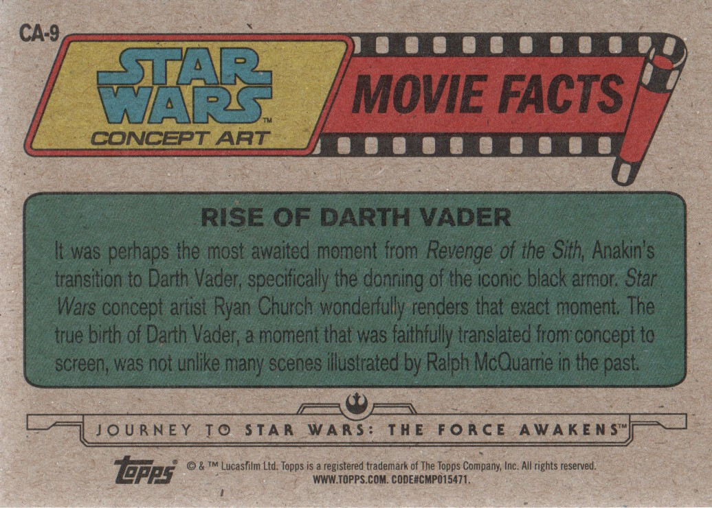 2015-Star-Wars-Journey-to-The-Force-Awakens-Inserts-Cards-Pick-From-List miniature 73