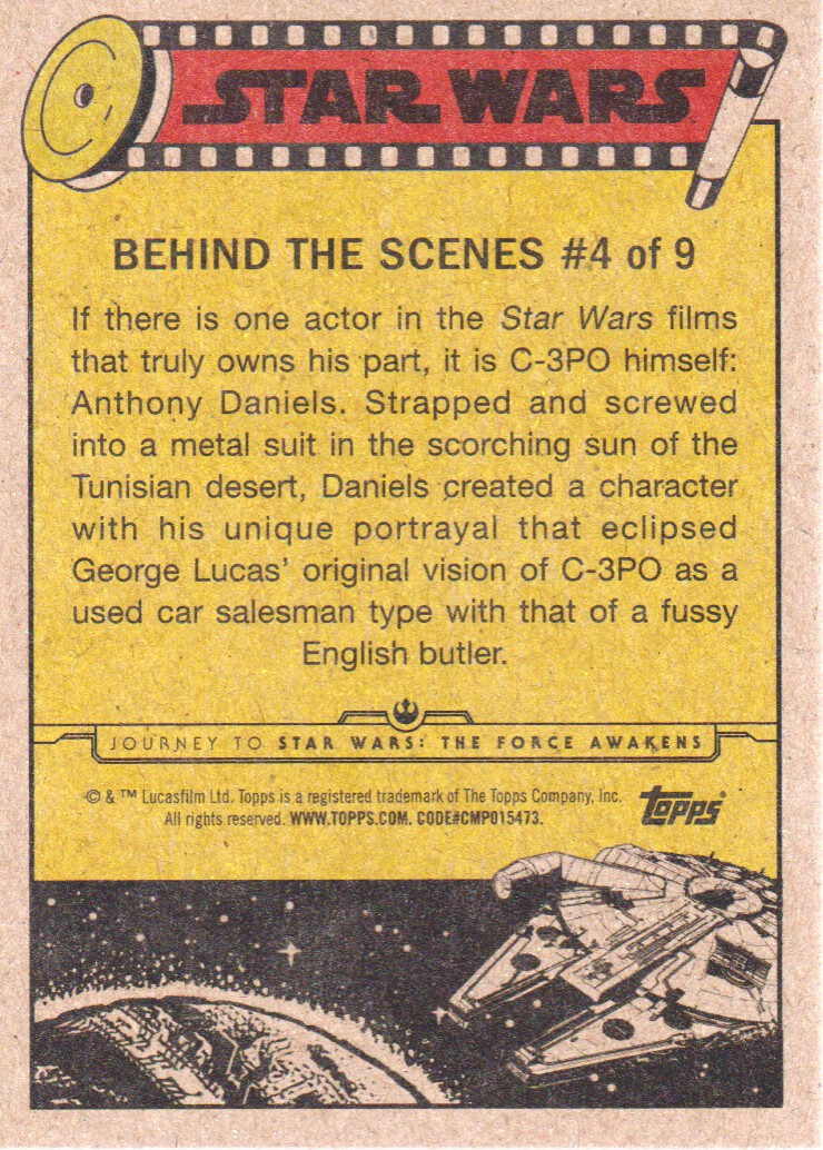 2015-Star-Wars-Journey-to-The-Force-Awakens-Inserts-Cards-Pick-From-List miniature 9