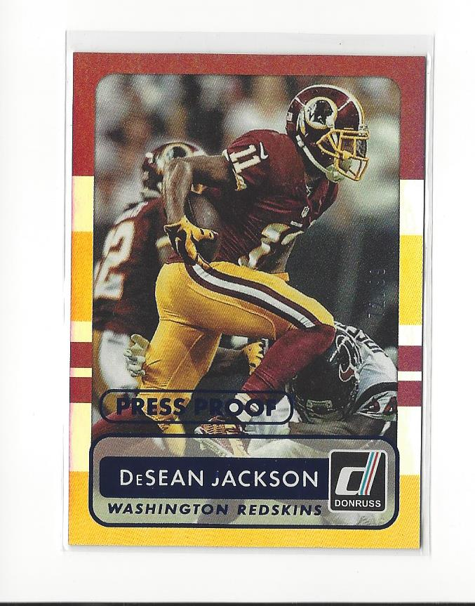 2015 Donruss Press Proof Blue  90 DeSean Jackson Redskins 72 99  e4d562523