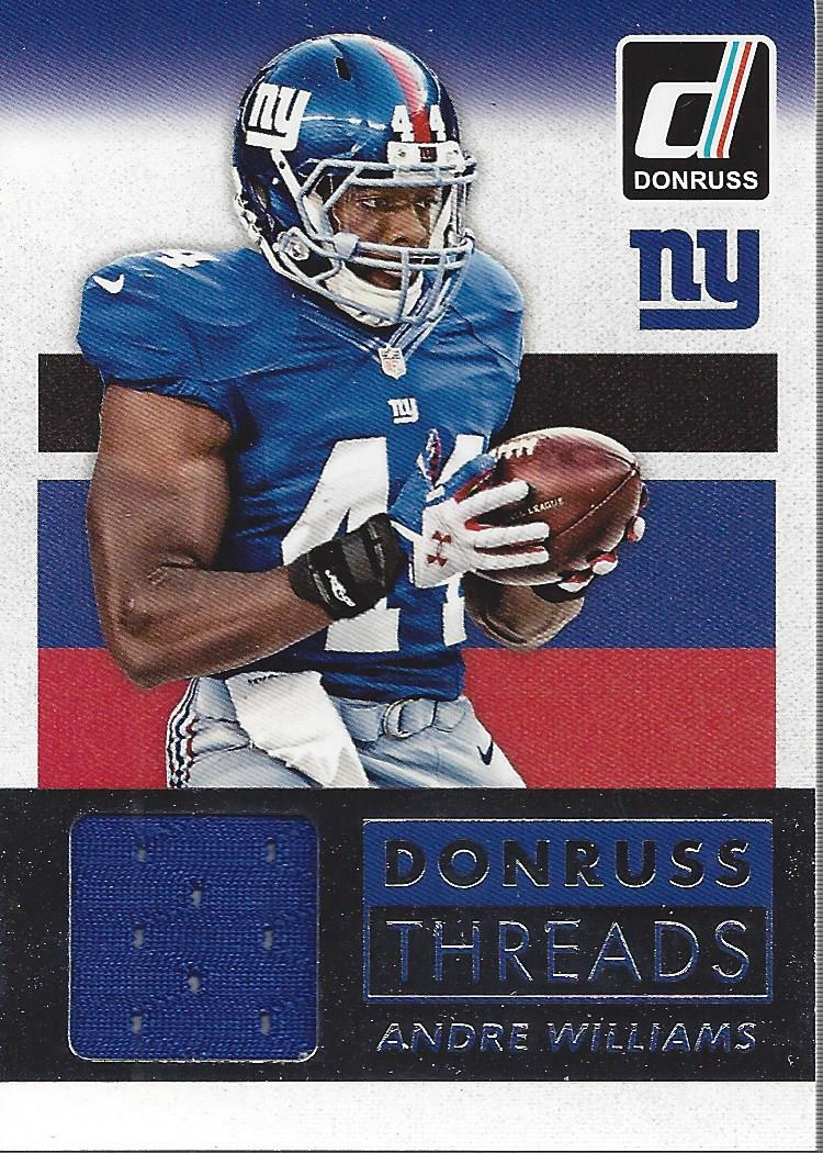 2015 Donruss Threads #DTAW Andre Williams Jersey - NM-MT   eBay