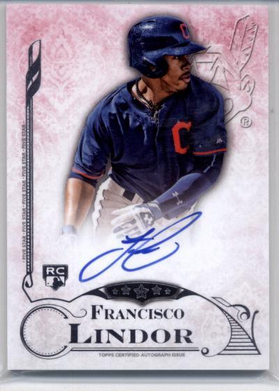 2015 Topps Five Star Autographs #FSAFL Francisco Lindor RC