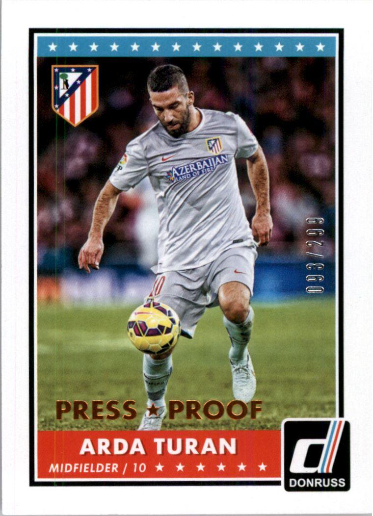 Donruss Soccer 2015 Bronze 299 Pitch Kings Chase Card #1 Arda Turan
