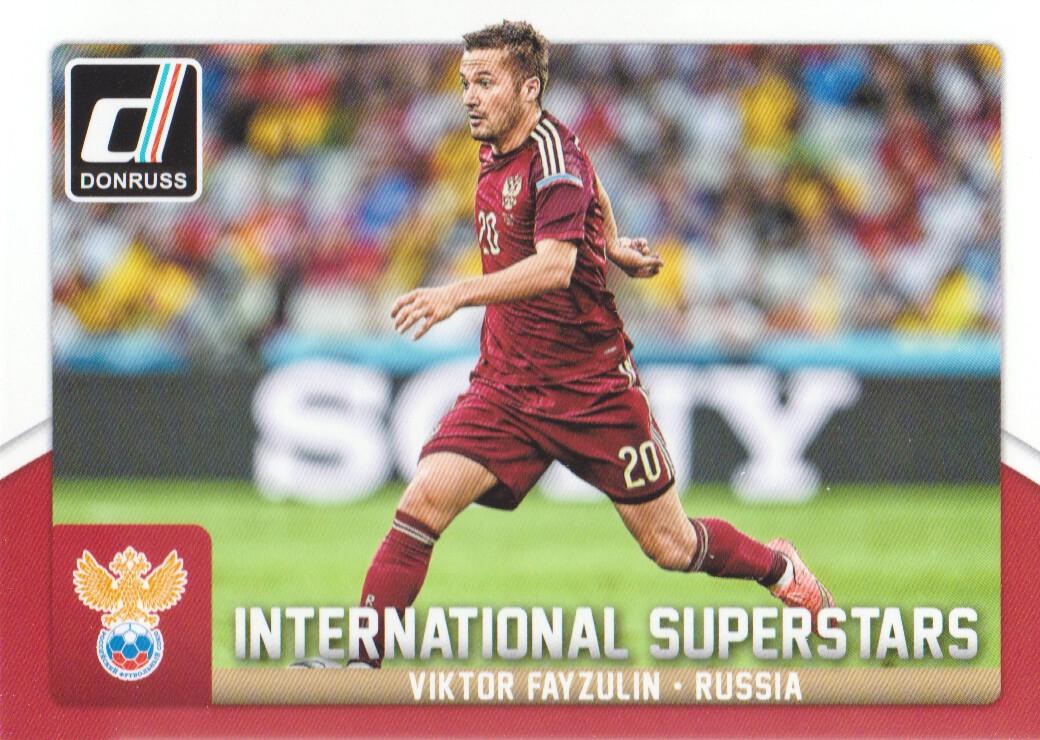 Donruss soccer 2015 Int superestrellas Chase Card #45 Sergio Agüero