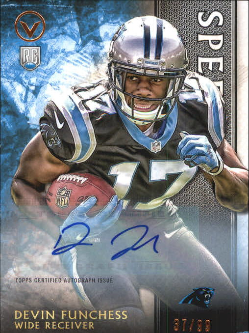 2015 Topps Valor Autographs Speed #199 Devin Funchess
