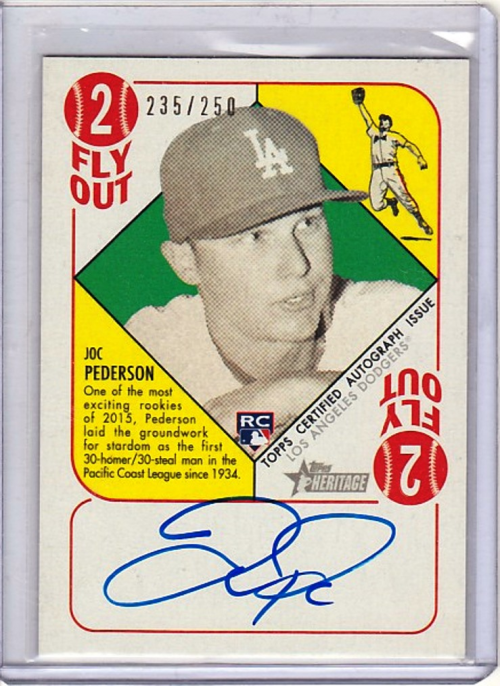 2015 Topps Heritage '51 Collection Autographs #H51AJP Joc Pederson/250