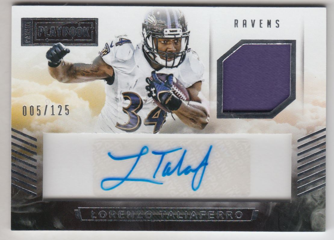 2015 Panini Playbook Signature Materials #18 Lorenzo Taliaferro/125
