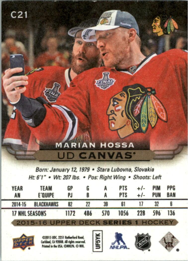 2015-16-Upper-Deck-Canvas-Hockey-Card-Pick miniature 31