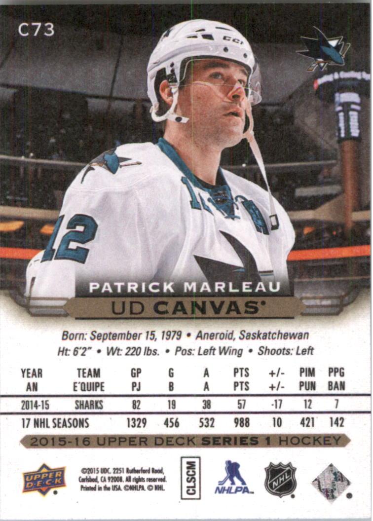 2015-16-Upper-Deck-Canvas-Hockey-Card-Pick miniature 113