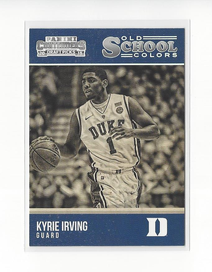 77e713ba70a2 2015-16 Contenders Draft Old School Colors  21 Kyrie Irving Duke Cavaliers