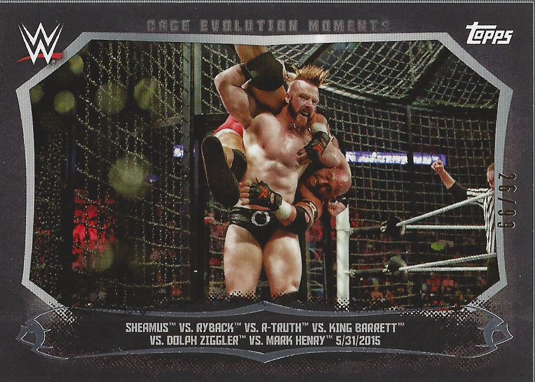 2015 Topps WWE Undisputed Cage Evolution Moments Black #CEM5