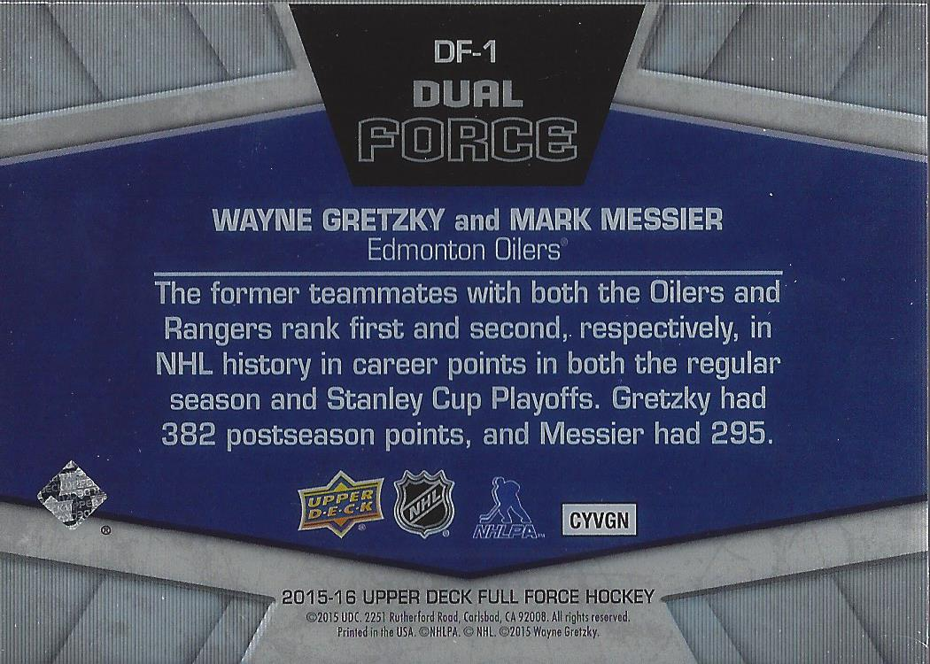 2015-16-Upper-Deck-Full-Force-Hockey-Insert-Card-Pick miniature 17