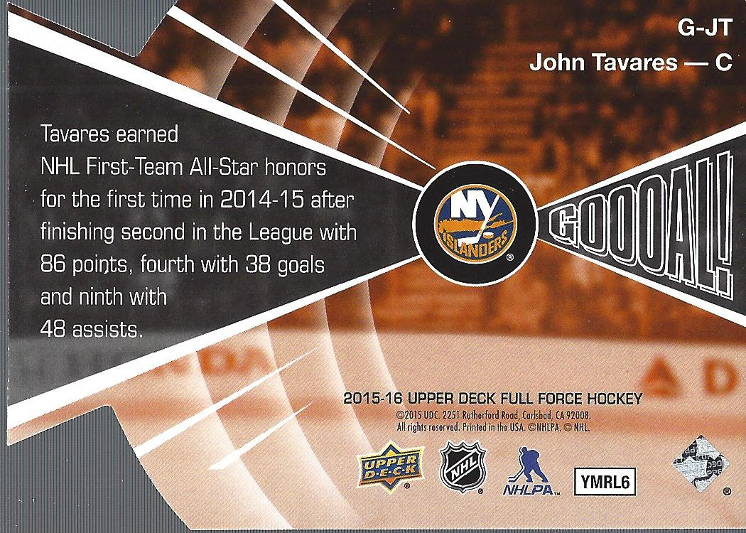 2015-16-Upper-Deck-Full-Force-Hockey-Insert-Card-Pick miniature 19