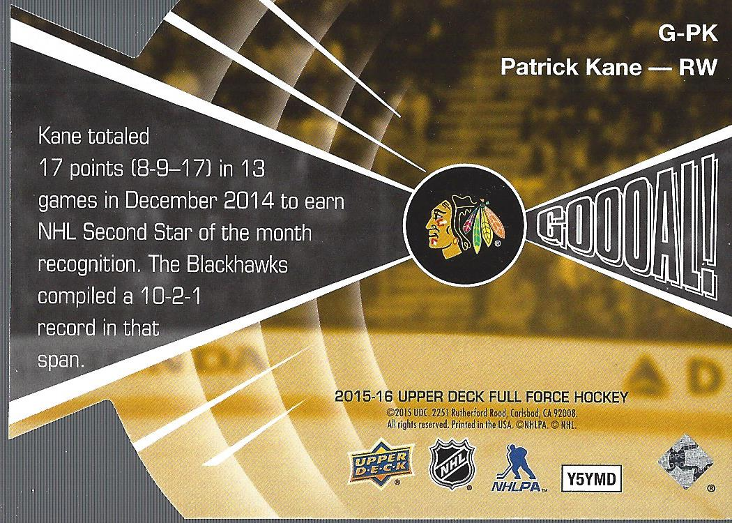 2015-16-Upper-Deck-Full-Force-Hockey-Insert-Card-Pick miniature 21