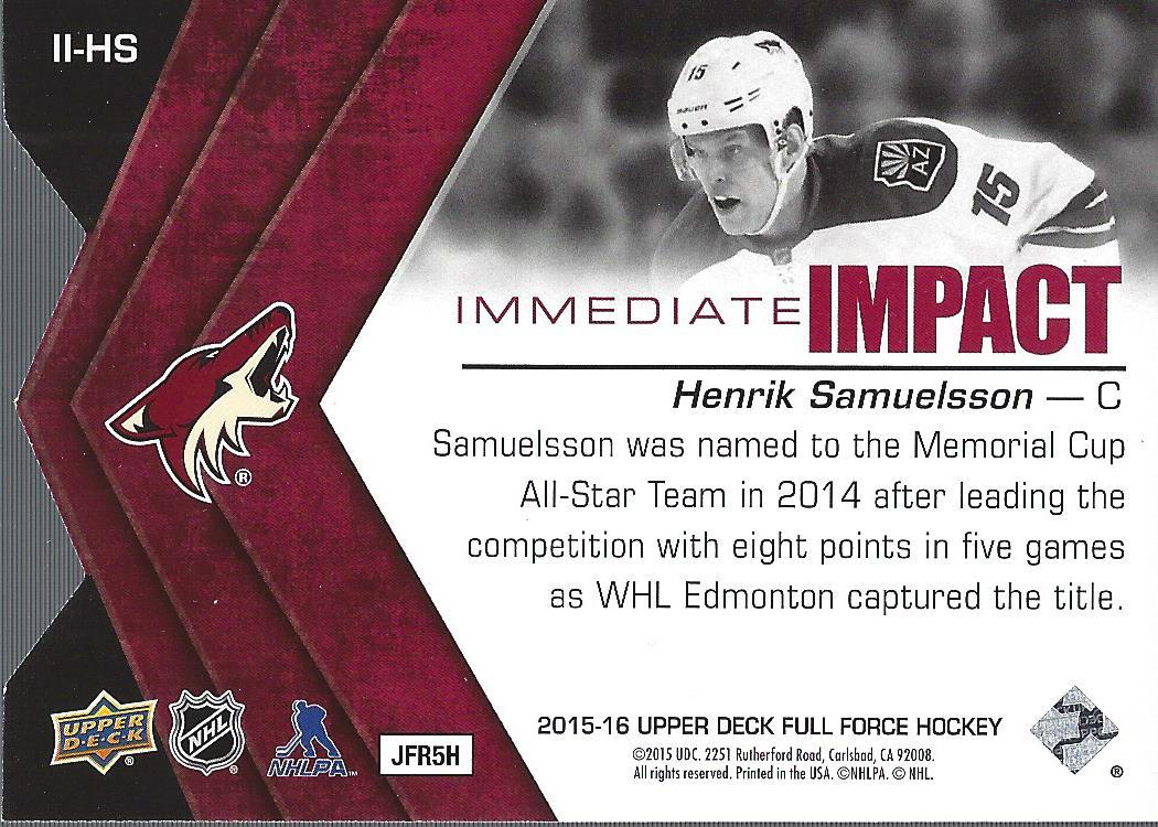 2015-16-Upper-Deck-Full-Force-Hockey-Insert-Card-Pick miniature 23