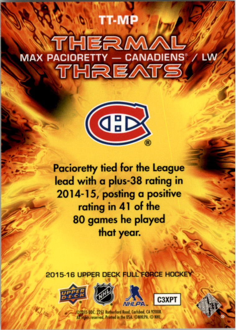 2015-16-Upper-Deck-Full-Force-Hockey-Insert-Card-Pick miniature 31