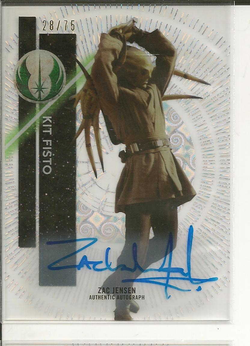 2015 Star Wars High Tek Autographs Tidal Diffractors #58 Zac Jensen as Kit Fisto