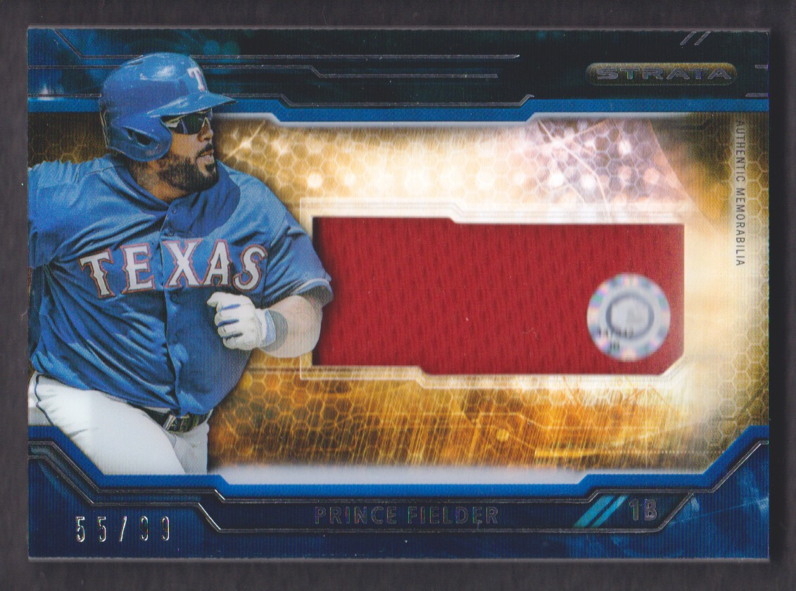 2015 Topps Strata Clearly Authentic Relics Blue//99 #CARC-PF Prince Fielder Card