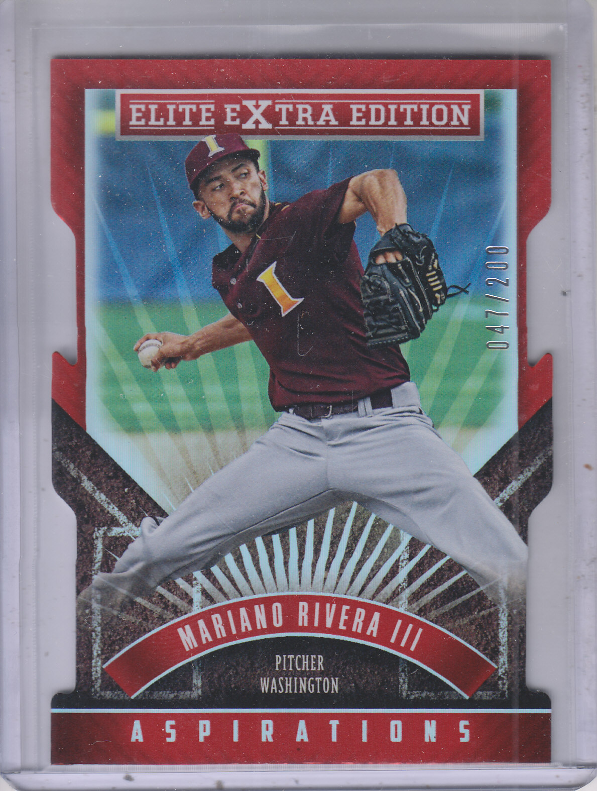 2015 Elite Extra Edition Aspirations Die Cut #74 Mariano Rivera III