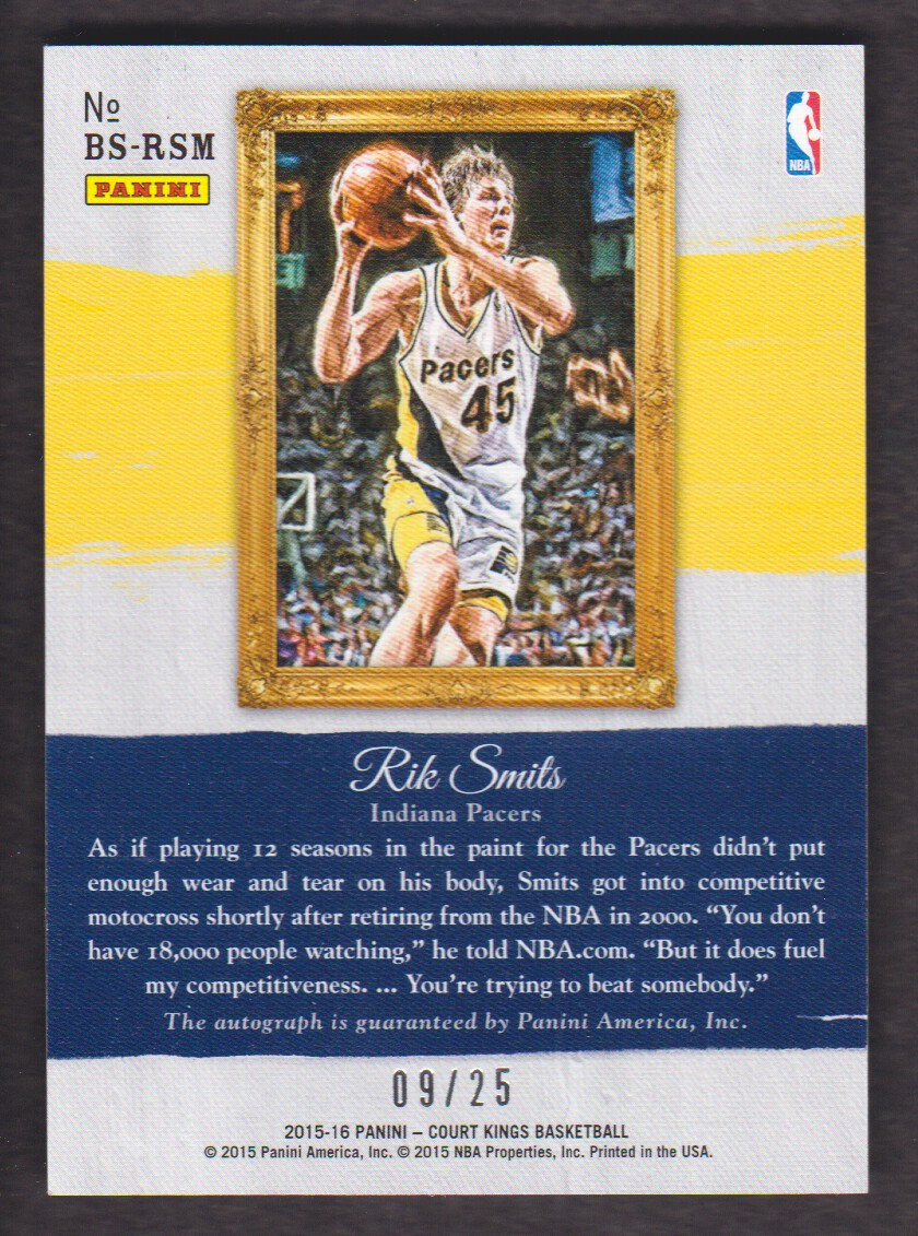 2015 16 Court Kings Brush Strokes Autograph Sapphire BS RSM Rik